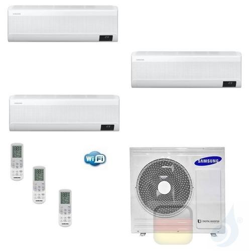 Samsung Klimaanlagen Trio Split WindFree ELITE 7000+7000+12000 Btu + AJ068TXJ3KG/EU R-32 A++ A+ Stimmenkontrolle WiFi AR07071...