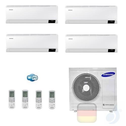 Samsung Klimaanlagen Quadri Split Serie Cebu Wi-Fi 7+9+9+12 Btu + AJ080TXJ4KG/EU R-32 A++ A+ Stimmenkontrolle WiFi AR07090912...