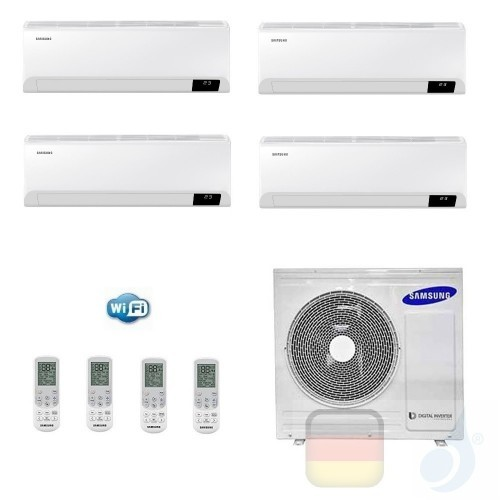 Samsung Klimaanlagen Quadri Split Serie Cebu Wi-Fi 9+9+9+9 Btu + AJ080TXJ4KG/EU R-32 A++ A+ Stimmenkontrolle WiFi AR09090909T...