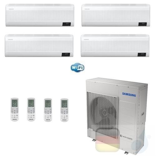 Samsung Klimaanlagen Quadri Split Serie WindFree ELITE 12+12+12+12 Btu + AJ100TXJ5KG/EU R-32 A++ A+ Stimmenkontrolle WiFi AR1...