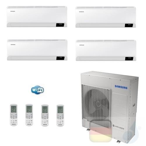 Samsung Klimaanlagen Quadri Split Serie Cebu Wi-Fi 9+9+9+12 Btu + AJ100TXJ5KG/EU R-32 A++ A+ Stimmenkontrolle Alexa Google AR...