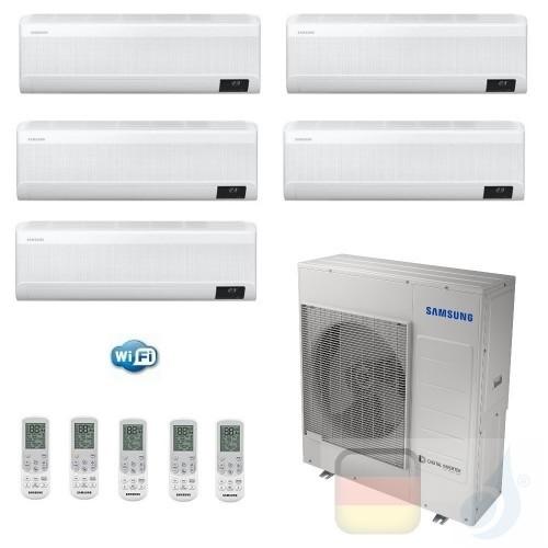 Samsung Klimaanlagen Penta Split Serie WindFree AVANT 7+7+7+7+12 Btu + AJ100TXJ5KG/EU R-32 A++ A+ Stimmenkontrolle WiFi AR070...