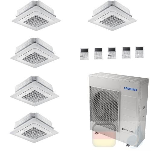Samsung Klimaanlagen Penta Split Kassettengerät 4 Luftauslässe Mini WindFree 9+9+9+9+18 Btu R-32 AJ100TXJ5KG/EU A++ A+ AR0909...