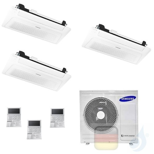 Samsung Klimaanlagen Trio Split Kassettengerät 1 Luftauslass WindFree 12000+12000+12000 Btu R-32 AJ068TXJ3KG/EU A++ A+ AJ1212...