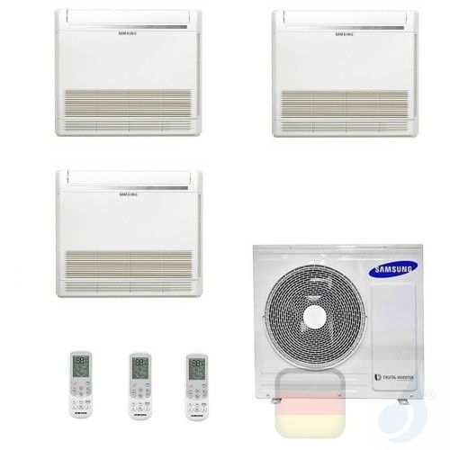 Samsung Klimaanlagen Trio Split Fußboden Console 9000+9000+12000 Btu R-32 AJ052TXJ3KG/EU A+++ A+ 2.6+2.6+3.5 kW AJ090912TNJDK...