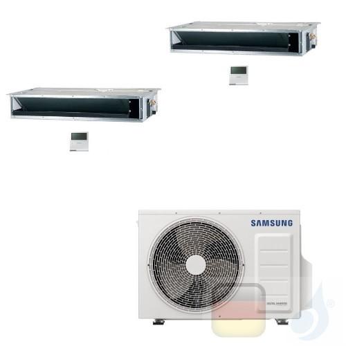 Samsung Klimaanlagen Duo Split Kanaleinbaugeräte Geringe/Mittlere Prävalenz 9000+18000 Btu R-32 AJ068TXJ3KG/EU A++ A+ 2.6+5.2...