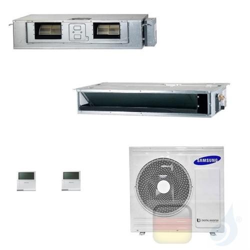 Samsung Klimaanlagen Duo Split Kanaleinbaugeräte Geringe/Mittlere Prävalenz 12000+18000 Btu R-32 AJ068TXJ3KG/EU A++ A+ AJ1218...