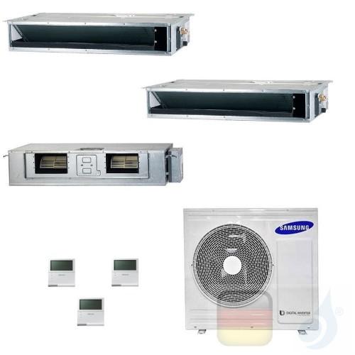 Samsung Klimaanlagen Trio Split Kanaleinbaugeräte Geringe/Mittlere Prävalenz 9000+9000+18000 Btu R-32 AJ068TXJ3KG/EU A++ A+ A...