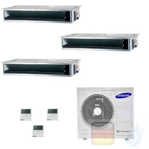 Samsung Klimaanlagen Trio Split Kanaleinbaugeräte Geringe/Mittlere Prävalenz 12000+12000+12000 Btu R-32 AJ068TXJ3KG/EU A++ A+...