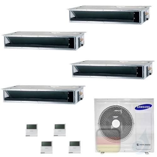 Samsung Klimaanlagen Quadri Split Kanaleinbaugeräte Geringe/Mittlere Prävalenz 9+9+9+9 Btu R-32 AJ080TXJ4KG/EU A++ A+ AR09090...