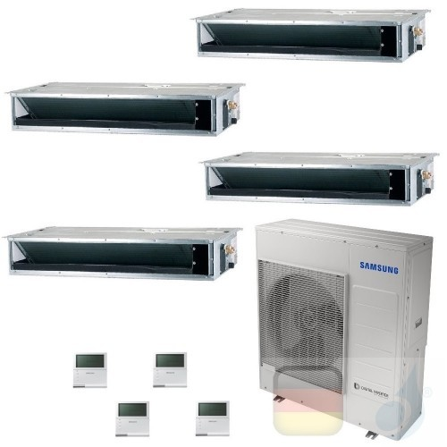 Samsung Klimaanlagen Quadri Split Kanaleinbaugeräte Geringe/Mittlere Prävalenz 9+9+9+9 Btu R-32 AJ100TXJ5KG/EU A++ A+ AR09090...