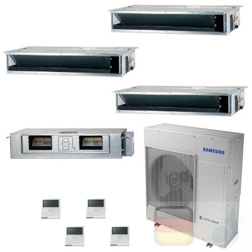 Samsung Klimaanlagen Quadri Split Kanaleinbaugeräte Geringe/Mittlere Prävalenz 9+9+9+18 Btu R-32 AJ100TXJ5KG/EU A++ A+ AR0909...