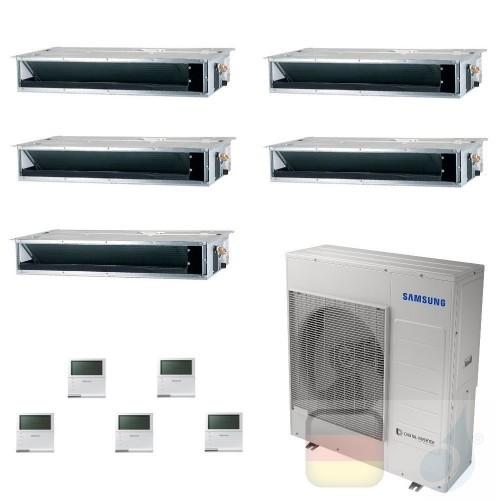 Samsung Klimaanlagen Penta Split Kanaleinbaugeräte Geringe/Mittlere Prävalenz 9+9+9+9+9 Btu R-32 AJ100TXJ5KG/EU A++ A+ AR0909...