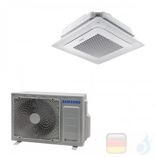 Samsung Klimaanlagen Mono Split Kassettengerät Gas R-32 4 Luftauslässe Mini WindFree 12000 Btu 3.5 kW WiFi Optional A++ A+ AC...