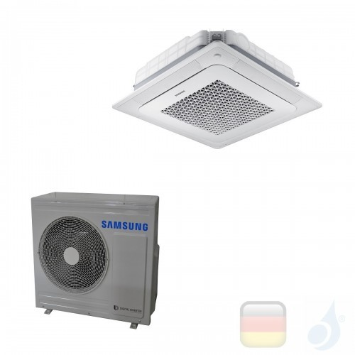 Samsung Klimaanlagen Mono Split Kassettengerät Gas R-32 4 Luftauslässe Mini WindFree 24000 Btu 7.1 kW WiFi Optional A+ A AC07...