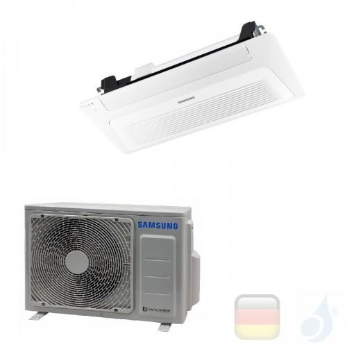 Samsung Klimaanlagen Mono Split Kassettengerät Gas R-32 1 Luftauslass WindFree 12000 Btu 3.5 kW WiFi Optional A++ A+ AC035RN1...