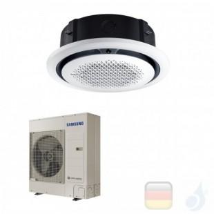Samsung Gewerbeklimaanlagen Mono Split Kassette 360 Runde Platte Weiß Gas R-32 34000 Btu Einzelphase 10.0 kW A++ A+ 220v AC10...