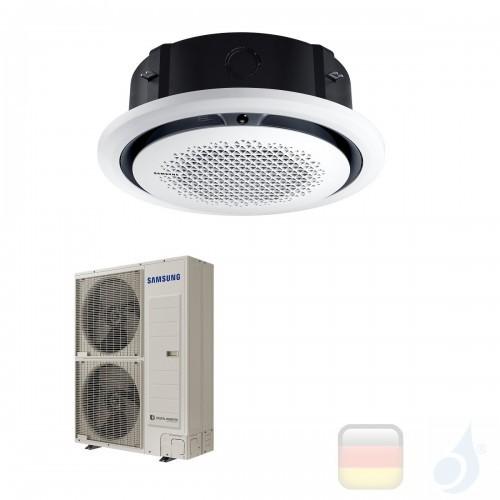 Samsung Gewerbeklimaanlagen Mono Split Kassette 360 Runde Platte Weiß Gas R-32 47600 Btu Einzelphase 14.0 kW  220v AC140RN4PK...