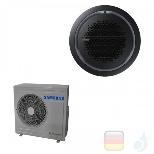 Samsung Gewerbeklimaanlagen Mono Split Kassette 360 Runde Platte Schwarz Gas R-32 24000 Btu Einzelphase 7.1 kW A++ A+ 220v AC...