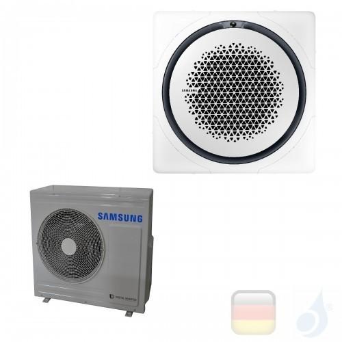 Samsung Gewerbeklimaanlagen Mono Split Kassette 360 Quadratische Platte Weiß Gas R-32 24000 Btu Einzelphase 7.1 kW A++ A+ 220...