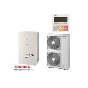 Toshiba Wärmepumpe Estia Luft-Wasser hi Power KIT - HWS-P804HR-E1 + HWSP804XWHT6-E1 8 kw 230V  HWSP804XWHT6-E1