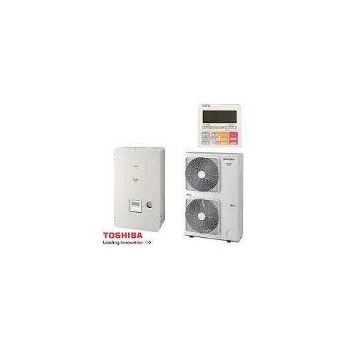 Toshiba Wärmepumpe Estia Luft-Wasser hi Power KIT - HWS-P804HR-E1 + HWSP804XWHT9-E1 8 kw 230V HWSP804XWHT9-E1