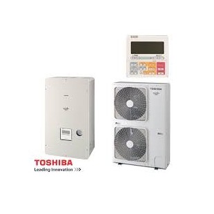 Toshiba Wärmepumpe Estia Luft-Wasser Classic Serie 4 KIT - HSW-804H-E1 - HWS-804XWHT6-E1 8,0 kw 230V HWS-804XWHT6-E1