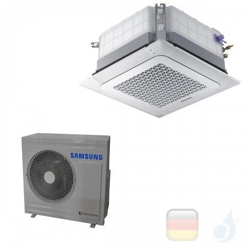 Samsung Gewerbeklimaanlagen Mono Split Kassettengerät 4 Luftauslässe WindFree Einzelphase Gas R-410A 24000 Btu 7.1 kW A++ A+ ...