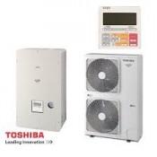 Wärmepumpe Toshiba Estia Luft-Wasser Classic Serie 4 KIT - HSW-1104H-E1 - HWS-1404XWHT9-E1 11,2 kw 230V