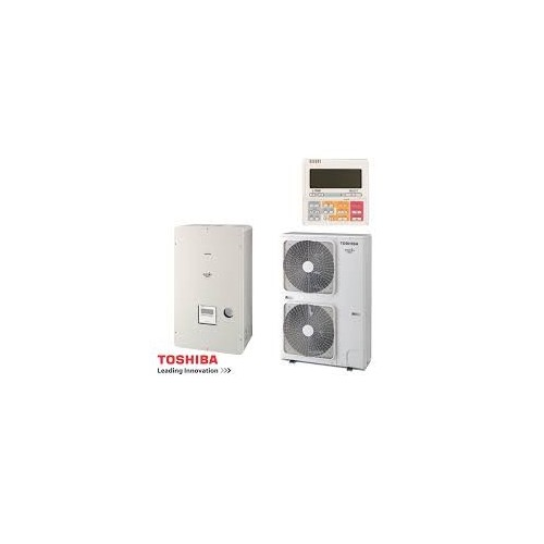 Toshiba Wärmepumpe Estia Luft-Wasser Classic Serie 4 KIT - HSW-1604H8-E1 - HWS-1404XWHT9 16,0kw 400V HWS-1404XWHT9