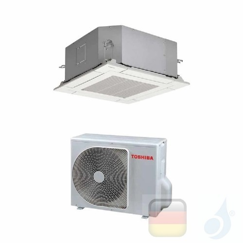 Toshiba Klimaanlagen Mono Split Kassettengerät 4 Luftauslässe 60x60 9000 Btu R-32 RAV-RM301MUT-E RAV-GM301ATP-E A+ A++ 2.5 kW...