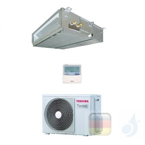 Toshiba Klimaanlagen Mono Split Kanalgerät Slim 9000 Btu R-32 RAV-RM301SDT-E RAV-GM301ATP-E A++ A++ 2.5 kW RAV-RM301SDT-E+RAV...