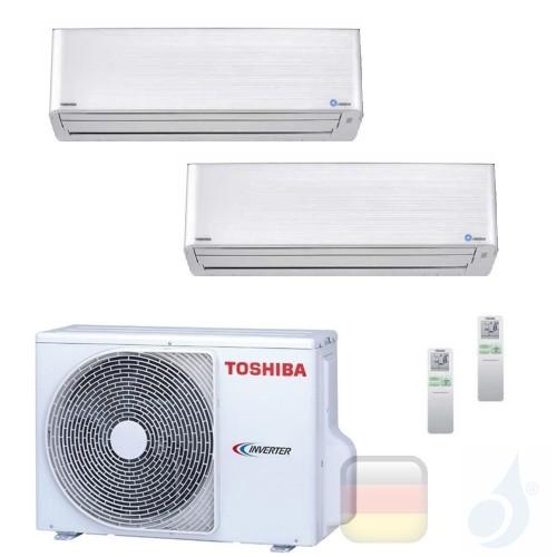 Toshiba Klimaanlagen Duo Split Wand 9000+9000 Btu R-32 Super Daiseikai 9 M10PKVPG M10PKVPG 2M18U2AVG A++ A++ 2.5+2.5 kW M10PK...