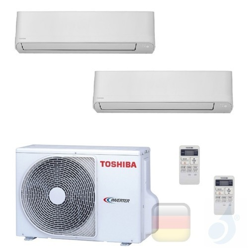 Toshiba Klimaanlagen Duo Split Wand 12000+12000 Btu R-32 Seiya B13J2KVG B13J2KVG 2M18U2AVG A++ A+ 3.5+3.5 kW B13J2KVG+B13J2KV...