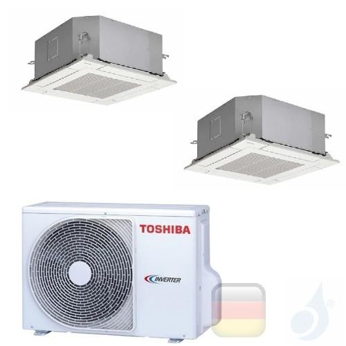 Toshiba Klimaanlagen Duo Split Kassettengerät Slim 60x60 12000+12000 R-32 M13U2MUVG M13U2MUVG 2M18U2AVG A++ A+ 3.5+3.5 kW M13...
