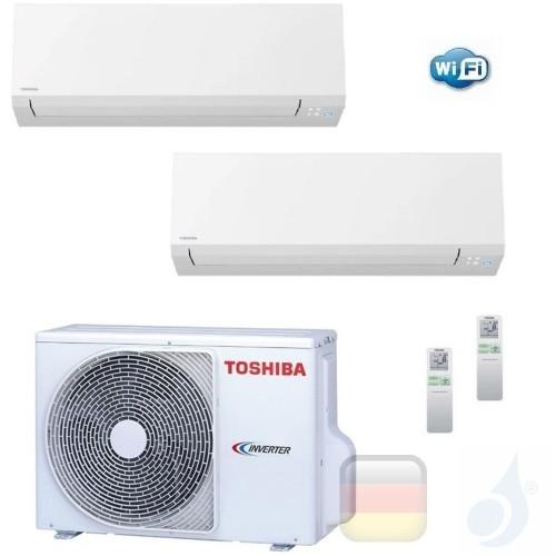 Toshiba Klimaanlagen Duo Split Wand 12000+12000 Btu + RAS-3M26U2AVG-E R-32 Shorai Edge Wifi A++ A++ 3.5+3.5 kW N4KVSG_12+12+R...