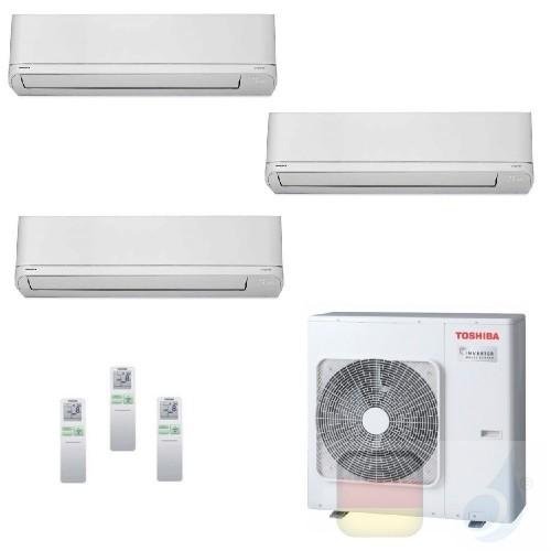 Toshiba Klimaanlagen Trio Split Wand 7000+7000+15000 Btu + RAS-3M18U2AVG-E R-32 Shorai WiFi Optional A++ A++ 2.0+2.0+4.2 kW P...