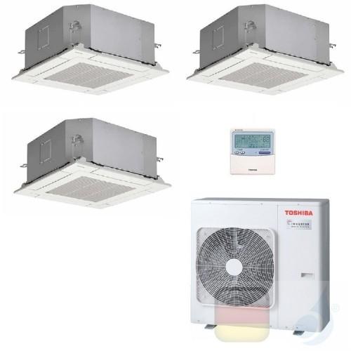Toshiba Klimaanlagen Trio Split Kassettengerät 60x60 9000+9000+9000 Btu + RAS-3M26U2AVG-E R-32 A++ A+ 2.5+2.5+2.5 kW PKVPG_9+...
