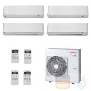 Toshiba Klimaanlagen Quadri Split Wand 5000+5000+5000+5000 Btu + RAS-4M27U2AVG-E R-32 Seiya WiFi Opt. A+ A+ 1.5+1.5+1.5+1.5 k...