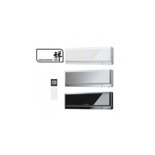 Inneneinheit Klimageräte Mitsubishi 12000 BTU Serie Kirigamine Zen R32 3,5 KW MSZ-EF35VG weiss silber schwarz Wärmepumpen