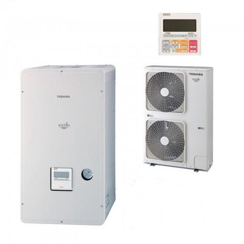 Wärmepumpe Toshiba Estia Luft-Wasser hi Power KIT - HWS-P110HR-E1 + HWSPP1104XWHM3-E1 11,2 kw 230V