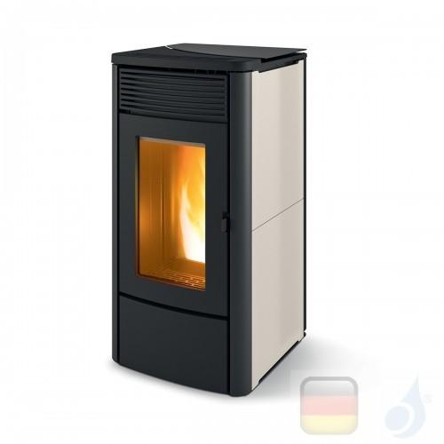 MCZ Pelletöfen serie Alyssa Air 6 M1 6.3 kW keramik Warme graue 7119017 Maestro-Fernbedienung mit Raumthermostat A+ MCZ-71190...