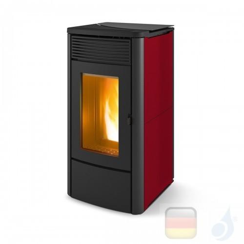 MCZ Pelletöfen serie Alyssa Air 6 M1 6.3 kW keramik Bordeaux 7119017 Maestro-Fernbedienung mit Raumthermostat A+ MCZ-7119017-...