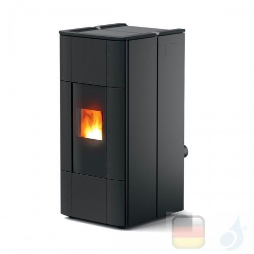 MCZ Hydro Pelletöfen Jazz Hydromatic 30 M1 28.5 kW keramik Schwarz 7119028 Maestro-Fernbedienung mit Raumthermostat A++ MCZ-7...
