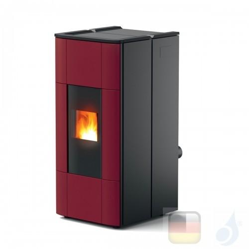 MCZ Hydro Pelletöfen Jazz Hydromatic 30 M1 28.5 kW keramik Bordeaux 7119028 Maestro-Fernbedienung mit Raumthermostat A++ MCZ-...
