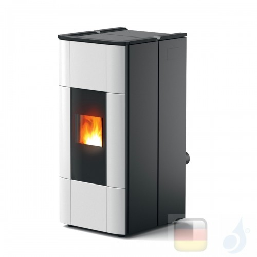 MCZ Hydro Pelletöfen Jazz Hydromatic 30 M1 28.5 kW keramik Weiß 7119028 Maestro-Fernbedienung mit Raumthermostat A++ MCZ-7119...