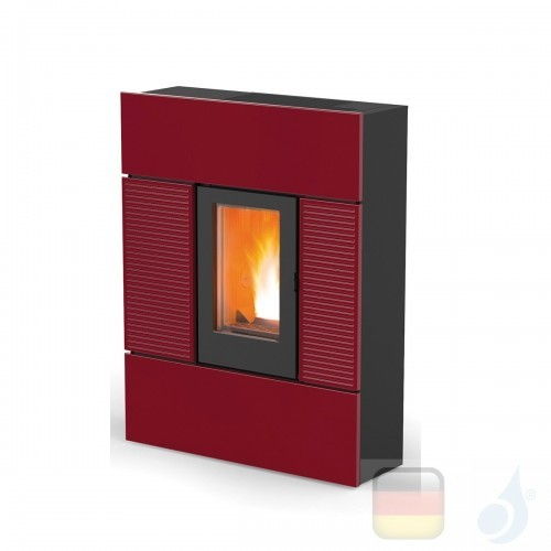 MCZ Pelletöfen serie Ray Comfort Air 8 M1 7.8 kW keramik Bordeaux 7118004 Maestro-Fernbedienung mit Raumthermostat A+ MCZ-711...