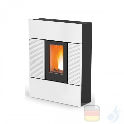 MCZ Pelletöfen serie Ray Comfort Air 8 UP! M1 7.8 kW keramik Weiß 7119043 Maestro-Fernbedienung mit Raumthermostat A+ MCZ-711...