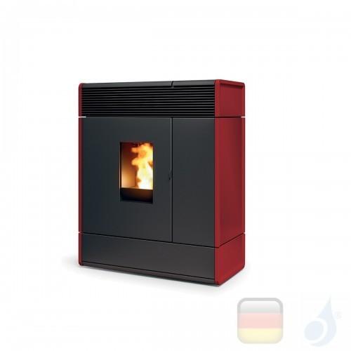 MCZ Hydro Pelletöfen serie Aki Hydromatic 16 M1 16.1 kW keramik Bordeaux 7120009 Maestro-Fernbedienung mit Raumthermostat A++...