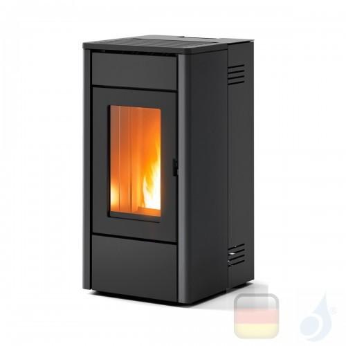MCZ Pelletöfen serie Amy Air 6.3 kW metal Schwarz 7116001S Fernbedienung A+ MCZ-7116001S-